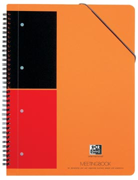 Oxford INTERNATIONAL Meetingbook, 160 bladzijden, ft A4+, gelijnd