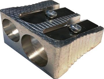 Linex potloodslijper 2 gaats, uit metaal