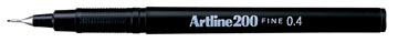 Fineliner Artline 200 zwart