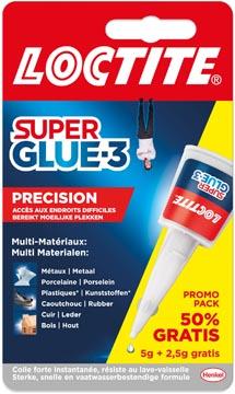 Loctite Secondelijm Super Glue Precision, 5 g + 50 % gratis, op blister