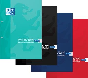 Oxford SCHOOL cursusblok, geassorteerde kleuren, ft A4, 100 vel, geruit 5 mm