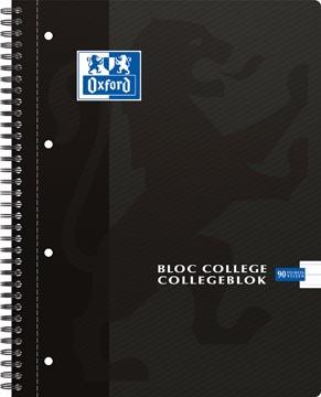Oxford School collegeblok, ft A4, 180 bladzijden, 4 gaatjes, gelijnd, zwart