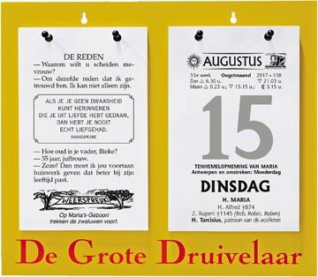 Dagblokkalender De Grote Druivelaar, ft A4, Nederlandstalig, 2022