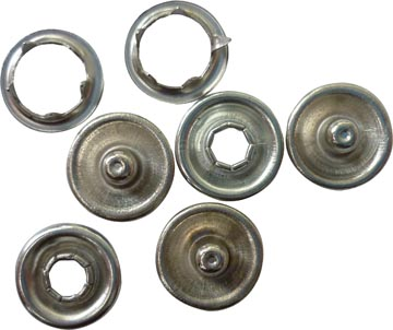 Graine Créative metalen drukknopjes, doos met 50 stuks