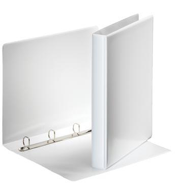 Esselte personaliseerbare ringmap, rug van 3,8 cm, 4 D-ringen van 20 mm, wit