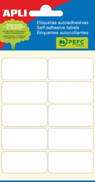 Apli witte etiketten ft 19 x 40 mm (b x h), 60 stuks, 10 per blad (2676)