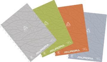Adoc schrift Design, ft A4, 144 bladzijden, kartonnen kaft, geruit 5 mm, geassorteerde kleuren