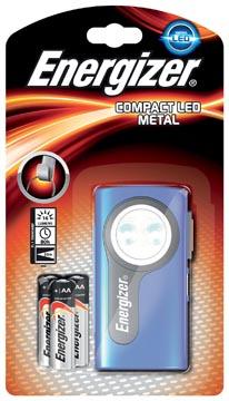 Energizer zaklamp Compact LED, inclusief 3 AA batterijen, op blister