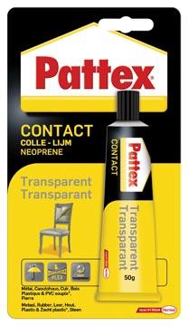 Pattex contactlijm Transparant, tube van 50 g, op blister