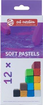 Talens Art Creation softpastels, doos met 12 stuks in geassorteerde kleuren