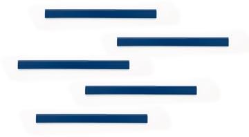 Durable Durafix zelfklevende magneetstrook, 210 mm, pak van 5 stuks, donkerblauw