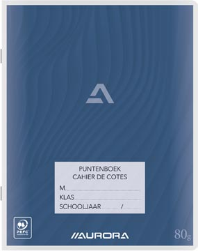 Aurora puntenboek ft 16,5 x 21 cm (schriftformaat)