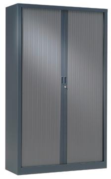 Roldeurkast, hoogte 198 cm, antraciet
