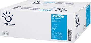 Papernet papieren handdoeken Z-vouw, 2-laags, 20x 200 vellen, wit