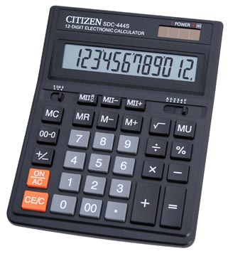 Citizen bureaurekenmachine SDC-444S, zwart