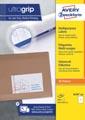 Avery Zweckform 3478-2, Universele etiketten, Ultragrip, wit, 200 vel, 1 per vel, ft 210 x 297 mm