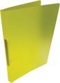 Alpha ringmap, voor ft A4, uit PP, 2 ringen van 16 mm, transparant geel