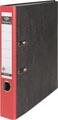 Pergamy ordner, voor ft A4, uit karton, rug van 5 cm, gewolkt rood